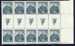 CZECHOSLOVKIA 1938 Kosice Exhibition Gutter Pair Block Of 5 MNH / **.  Michel 401 ZS - Czechoslovakia