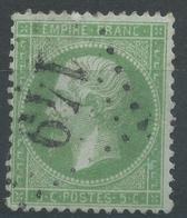 Lot N°49909  N°20, Oblit GC 149 Argelès-de-Bigorre, Hautes-Pyrénées (63), Ind 4 - 1862 Napoleon III