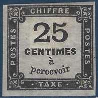 France TAXE N°5* Type I Frais & Signé Calves - 1859-1955 Mint/hinged