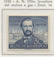 PIA - GERMANIA - 1952  :  75° Anniversario Dell'invenzione Del Motore A Gas Da Parte Di Nikolaus August Otto  -  (Yv 35) - Automobili