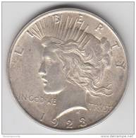 1923 United States 'PEACE' Silver Dollar FREE UK P+P - Émissions Fédérales