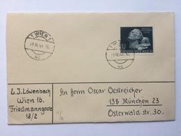 GERMANY 1942 Cover Wien To Munchen - Briefe U. Dokumente