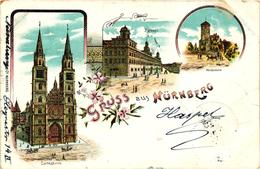 Germany, Nürnberg, Nuremberg, City Scenes, Old Litho Postcard - Nuernberg