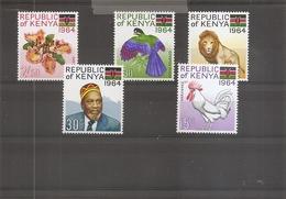 Kenya ( 15/19 XXX -MNH) - Kenia (1963-...)