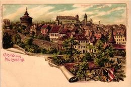 Germany, Nürnberg, Nuremberg, Nürnberg Vom Hallerthor, Old Litho Postcard - Nuernberg