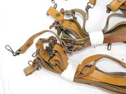 FRANCE :  LOT 27 BRETELLES CUIR PISTOLET MITRAILLEUR MAT 49 - DE STOCK - Decorative Weapons
