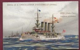 250619A - CHROMO CHOCOLAT AIGUEBELLE - OHIO Etat-Unis Cuirassé D'escadre Construit En 1899 - Aiguebelle