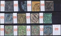 Lot De Timbres Sage  Différents Et Oblitérés - Marcophilie (Timbres Détachés)