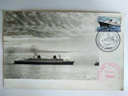 Carte Maximum Voyage Inaugural Paquebot France 1962 - Tampon Rouge. BE - Cartas Máxima