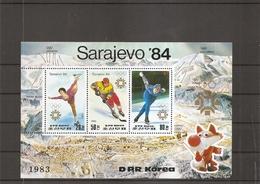 Corée Du Nord - JO D'hiver De Sarajevo-1984 ( BF 150 XXX -MNH) - Corée Du Nord