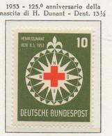 PIA - GERMANIA - 1953  :  125° Anniversario Della Nascita Di Henri Dunant, Fondatore Della Croce Rossa -   (Yv 50) - Primo Soccorso