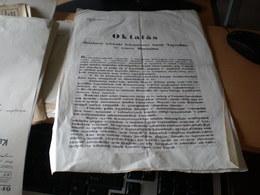 Zombor Sombor 1850 Years Nikolits Izidor  Oktatas Szerb Vojvodina Es Temesi Bansag  Srpsla Vojvodina Temiski Banat - Documents Historiques