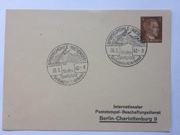 GERMANY 1942 Postcard Spindelmuhle Winter Sportplatz Handstamps Sent To Berlin - Allemagne