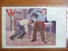 CPA -  Alphabet Lettre W - Whisky - Louis TITZ - Non Circulé - Art Nouveau - Künstlerkarten