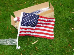 LOT 20-VINGT  DRAPEAUX U.S.A. CAR FLAG - ETAT 100% NEUF - Flags