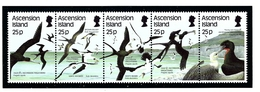 Ascension 430 MNH 1987 Sea Birds Strip Of 5 - Ascension (Ile De L')
