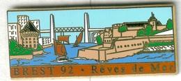 Pin's Arthus Bertrand - Bateau Navire Voilier Brest 92 Rêves De Mer - Boats