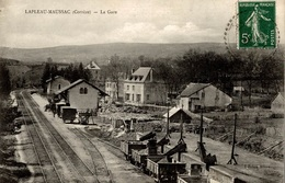 CPA Lapleau-Maussac La Gare - Stations With Trains
