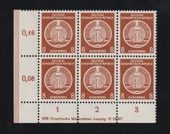 DDR 1954 Michel D 3 DV **, 8 Pfg. Dienst, Type XI, Michel € 142,-, 2 Scans, Siehe Details Unten - DDR