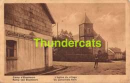 CPA CAMP D'ELSENBORN L'EGLISE DU VILLAGE - Elsenborn (camp)