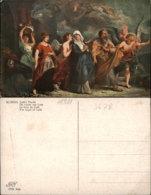 RUBENS-THE FLIGHT OF LOTH POSTCARD - Altre Illustrazioni
