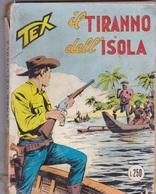 TEX IL TIRANNO DELL'ISOLA BIANCO LIBRO FUMETTI AUTENTICO 100% - Tex