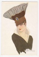AK92 Fashion - Lady With Unusual Hat - Artist Drawn, Reproduction - Fashion