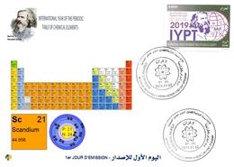 DZ Algeria 1836 2019 Anno Internazionale Della Tavola Periodica Degli Elementi Chimici Dmitry Mendeleev Chimica Scandio - Chimica