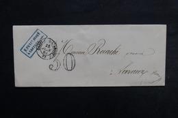 FRANCE - Lettre De Castres / Agout Pour Lavaur En 1855 , Taxe D 'acheminement 30 Double Traits - L 32892 - Marcofilia (sobres)