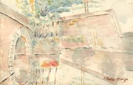 CPA CARTE PEINTE  PAR C. QUILLET SAINT ANGE - Autres Illustrateurs