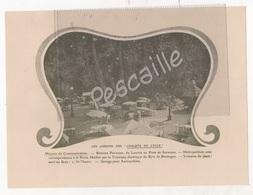 1901 - PUBLICITE INVITATION LES CHALETS DU CYCLE - BOIS DE BOULOGNE - THE LIPTON DE LONDRES FIVE O'CLOCK - A. MARAIS - Werbung