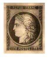 France : PLAQUE OR - RARE !!! Y.&T. N° 6 Ou 7. - PLAQUE EN OR 24 CARATS - Neuf Sous Blister - - 1849-1850 Cérès