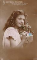 AR32 Greetings - Joyous Easter - RPPC, 1926 Weehawken Sta. Postmark - Easter