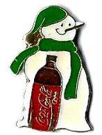 C75 - BONHOMME DE NEIGE COCA COLA - Verso : LTO PARIS - Coca-Cola