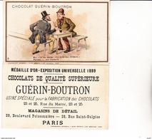 CHROMOS. Chocolat GUERIN-BOUTRON.   Moi, V' La Ma Devise, Ect ...U706 - Guérin-Boutron