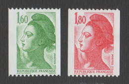 France Neuf Sans Charnière 1982 Liberté De Gandon D'après Delacroix Roulette YT 2222 2223 - 1982-90 Liberty Of Gandon