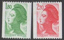 France Neuf Sans Charnière 1985 Liberté De Gandon D'après Delacroix Roulette YT 2378 2379 - 1982-90 Liberty Of Gandon