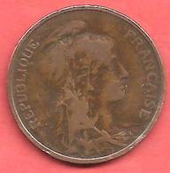 5 Centimes , Type DANIEL DUPUIS , Bronze , 1906 , N° F # 119.16 - C. 5 Centimes