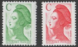 France Neuf Sans Charnière 1990 Liberté De Gandon D'après Delacroix YT 2615 2616 - 1982-90 Liberty Of Gandon