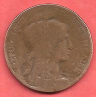 10 Centimes , DANIEL DUPUIS , Bronze , 1898 , N° F # 136.6 - France