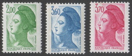 France Neuf Sans Charnière 1987 Liberté De Gandon D'après Delacroix YT 2484 2485 2486 - 1982-90 Liberty Of Gandon