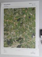 GROTE LUCHT-FOTO DESTELBERGEN LOCHRISTI VISSERSHOEK PEERDEKE In 1990 48x67cm ORTHOFOTOPLAN PHOTO AERIENNE LUCHTFOTO R714 - Destelbergen