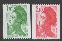 France Neuf Sans Charnière 1984 Liberté De Gandon D'après Delacroix YT Roulette 2321 2322 - 1982-90 Liberty Of Gandon
