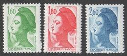 France Neuf Sans Charnière 1982 Liberté De Gandon D'après Delacroix YT 2219 2220 2221 - 1982-90 Liberty Of Gandon