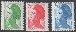 France Neuf Sans Charnière 1985 Liberté De Gandon D'après Delacroix YT 2375 2376 2377 - 1982-90 Liberty Of Gandon