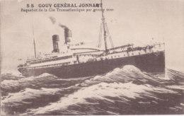 Paquebot (Bateaux) - S S Gouv Genéral Jonnart - Cie Transatlantique - Par Grosse Mer - Steamers
