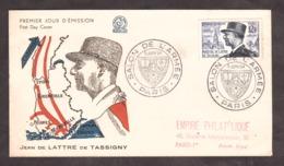 Enveloppe 1er Jour - Jean De Lattre De Tassigny - Salon De L'Armée - 1954 - 1950-1959