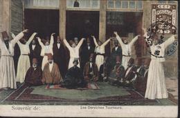Sur CPA Souvenir Les Derviches Tourneurs YT EEF Palestine Mandat Britannique Egypte CAD Mersina 25 9 19 - Palestina