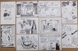 Lot De 18 CPM -1erSalon De La CPM Nantes 1986 / JM Petey / JC Sizler/PJeudy/JLPerrigault/JCharpentier/CDelandre Etc... - Borse E Saloni Del Collezionismo