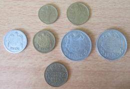 Monaco - Petit Lot De 7 Monnaies Dont Louis II Et Rainier 3 - 1945 à 1962 - Monaco